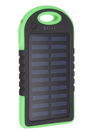 SOLAR POWERED POWER BANK - Click Image to Close